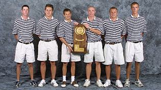 golf team holding NCAA division 2 championship