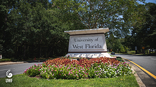 uwf main entrance sign