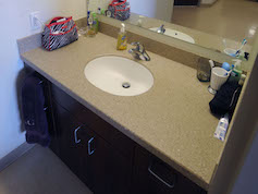 Suite-style room sink