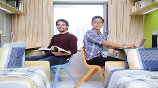 Students in a shared room at Lingnan University