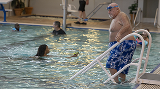 Members of the Aquatic Center enjoying Recreational Swim time