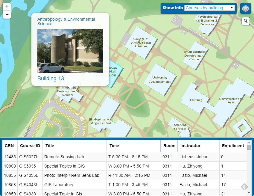 Uwf Campus Map UWF GIS Campus Map Project | University of West Florida Uwf Campus Map