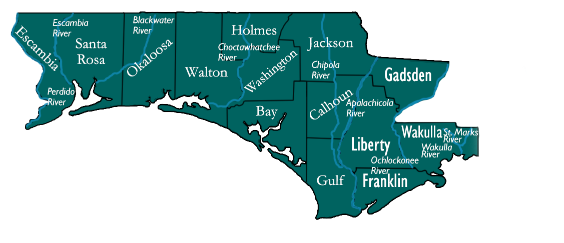 FPNHA final boundaries Perdido to Wakulla rivers