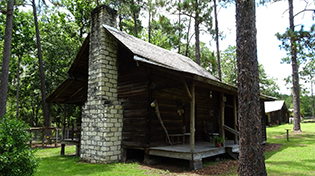original panhandle settlement wooden/brick house