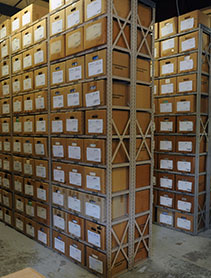 Photo of Business & Auxiliary Services records management storage unit
