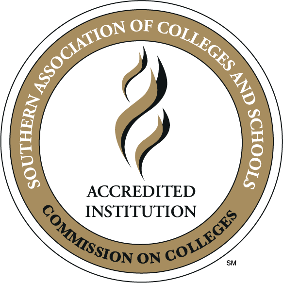 southern association of colleges and schools commission on colleges accredited institution stamp