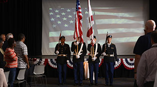 veterans day observance with uwf color guard